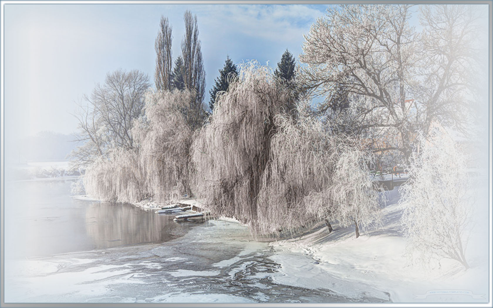 Winter pond HTML E Mail Templates 1680x1050
