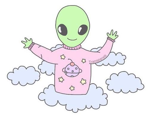 Alien Emoji Wallpaper