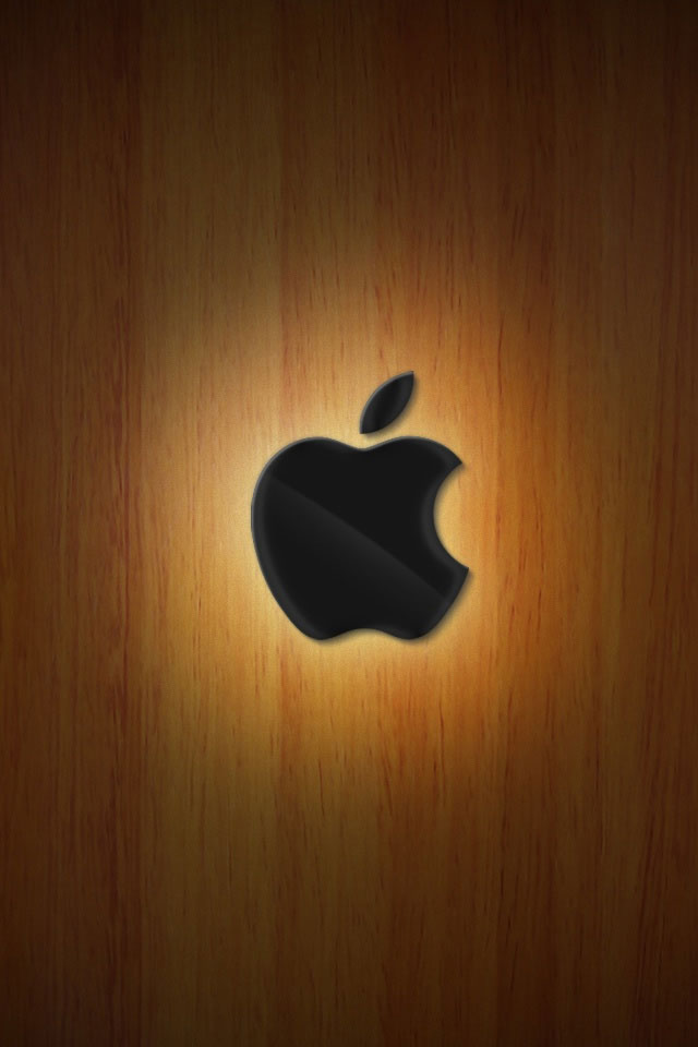 iPhone 4 4S Wallpaper   Apple Wood   HD Wallpapers   9to5Wallpapers 640x960