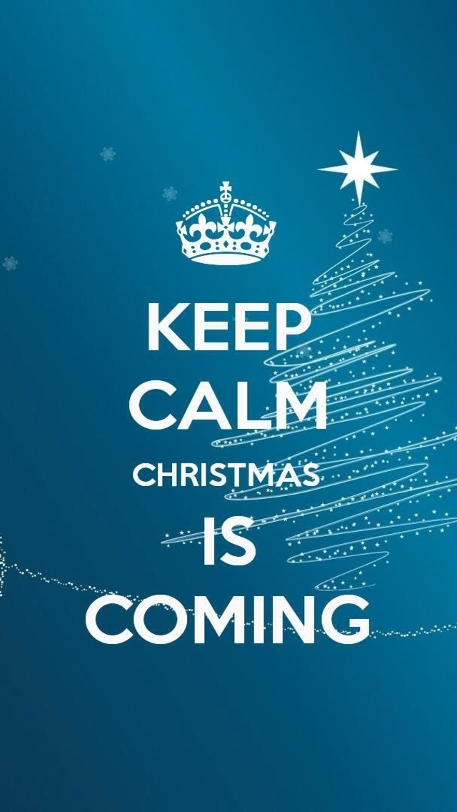Keep Calm Christmas Is Coming iPhone 5 Wallpaper HD 640x1136