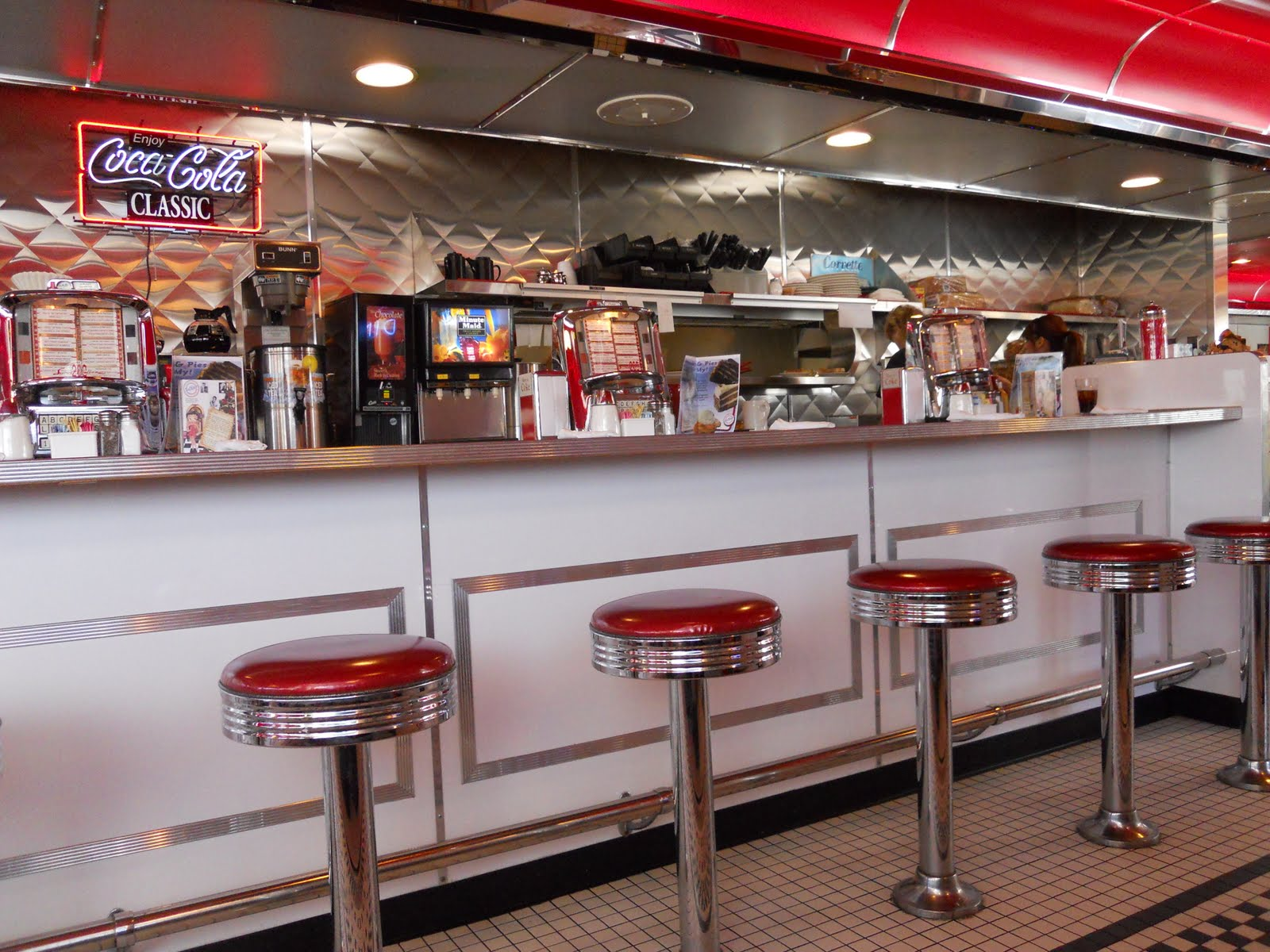 50s diner wallpaper wallpapersafari for 50s diner style kitchen