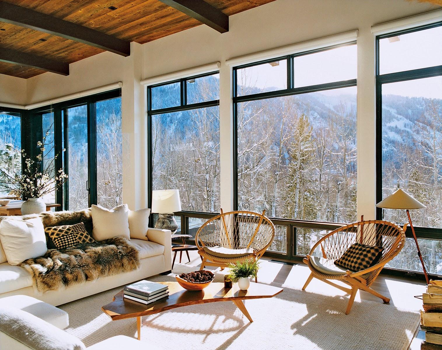 Aerin Lauders modern winter home in Aspen stunning mountain views 1515x1200