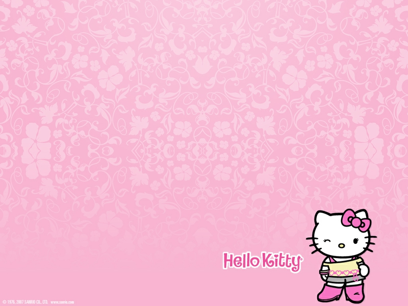 pink hello kitty 1024x768 wallpaper Anime Hello Kitty HD Desktop 800x600