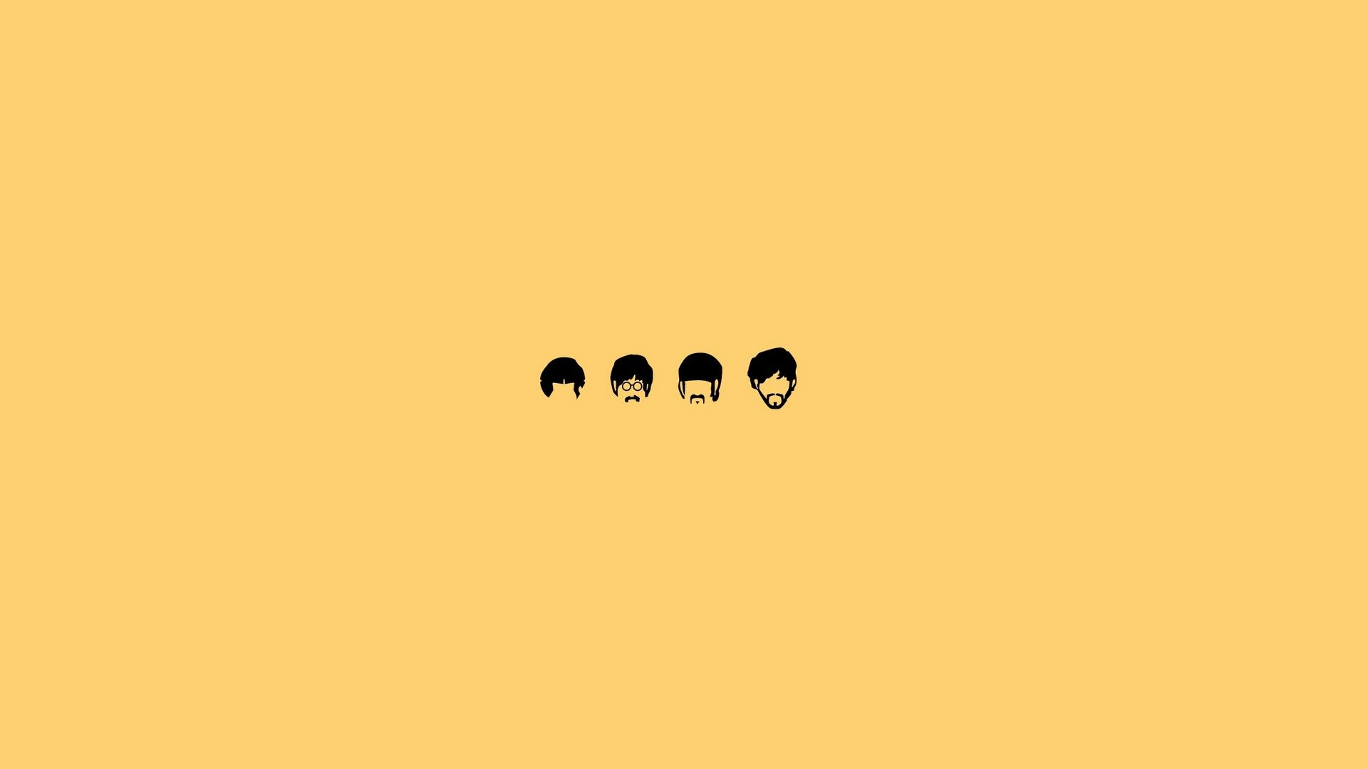 Desktop Wallpaper Yellow Theme Best Wallpaper HD Beatles 1920x1080