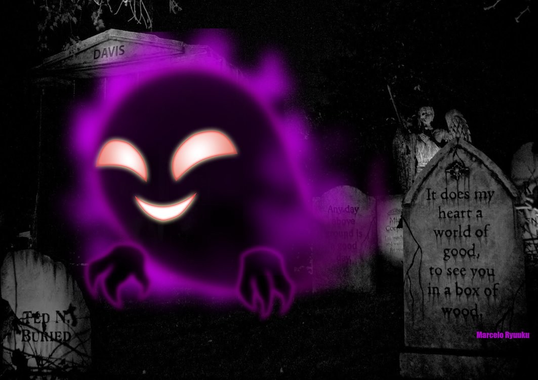 Ghost Pokemon Cursed Black by marceloryuuku 1063x751