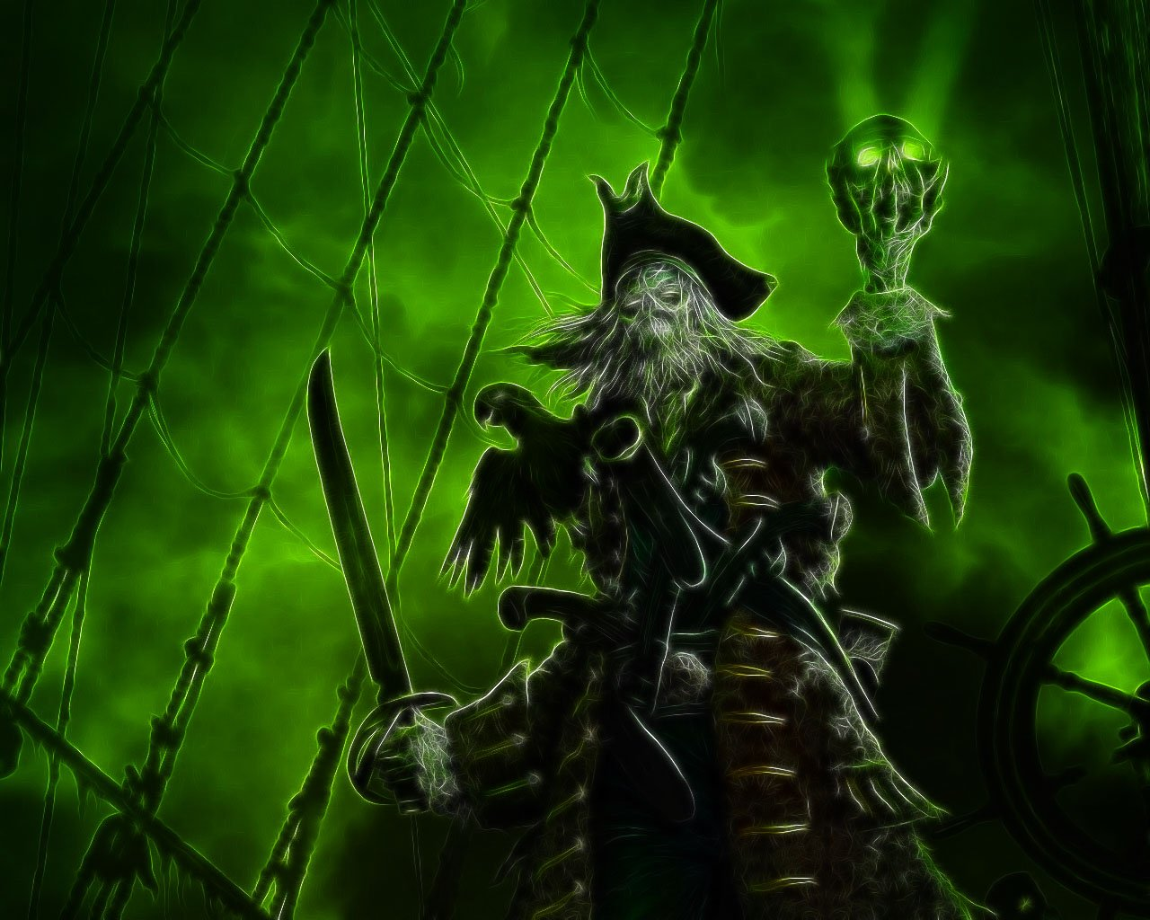 Free Download Dead Pirate Wallpaper Background 1280x1024