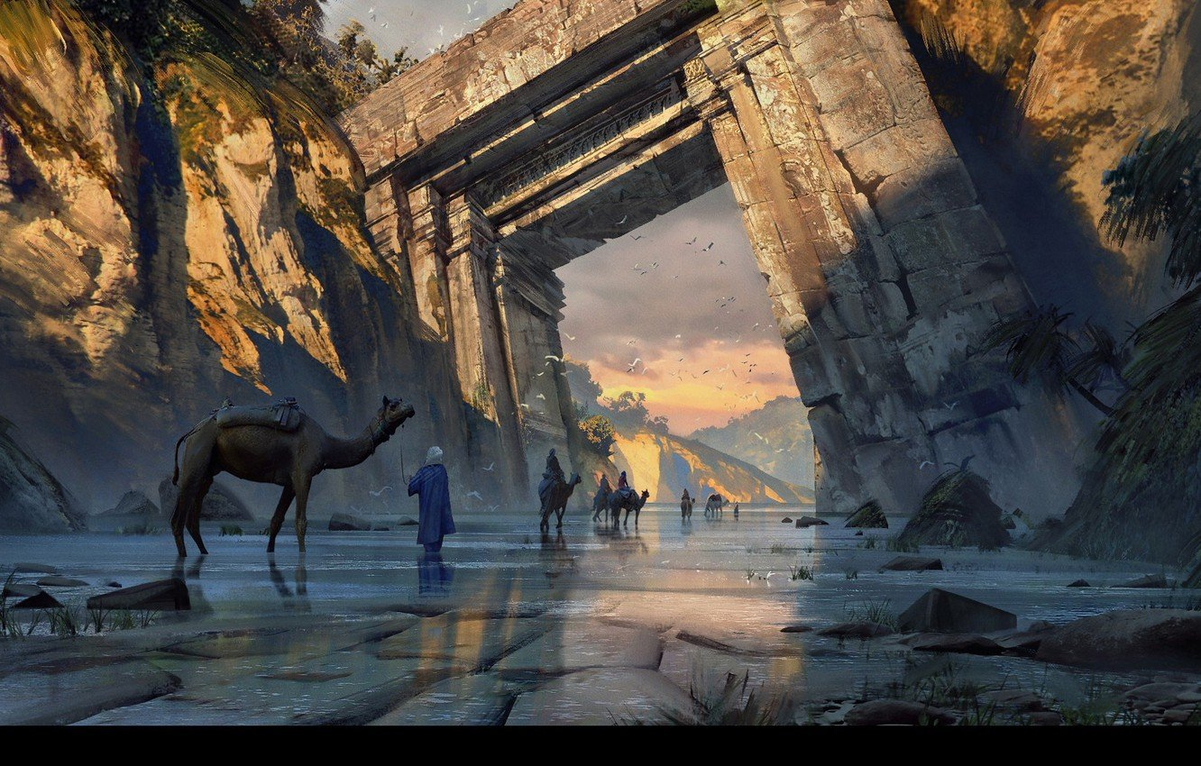 Wallpaper the way rocks the gates caravan Old Gate images for 1332x850