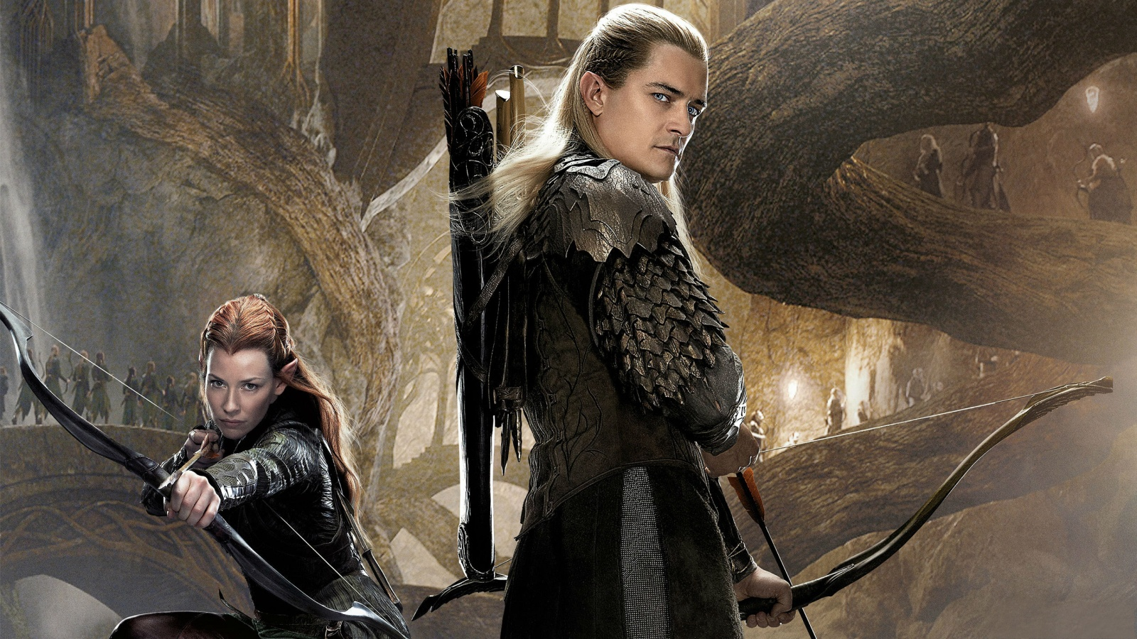 Tauriel Legolas In The Hobbit 2 Wallpapers   1600x900   690360 1600x900