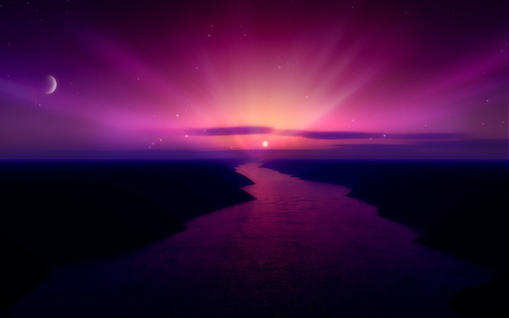 Morning Purple Sunrise Wallpapers HD Wallpapers 1680x1050