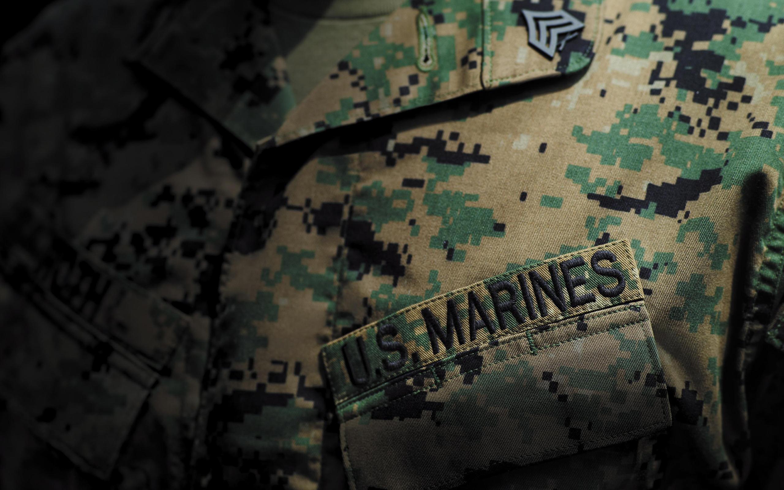 Uniform Camouflage Marines military wallpaper 2560x1600 46812 2560x1600