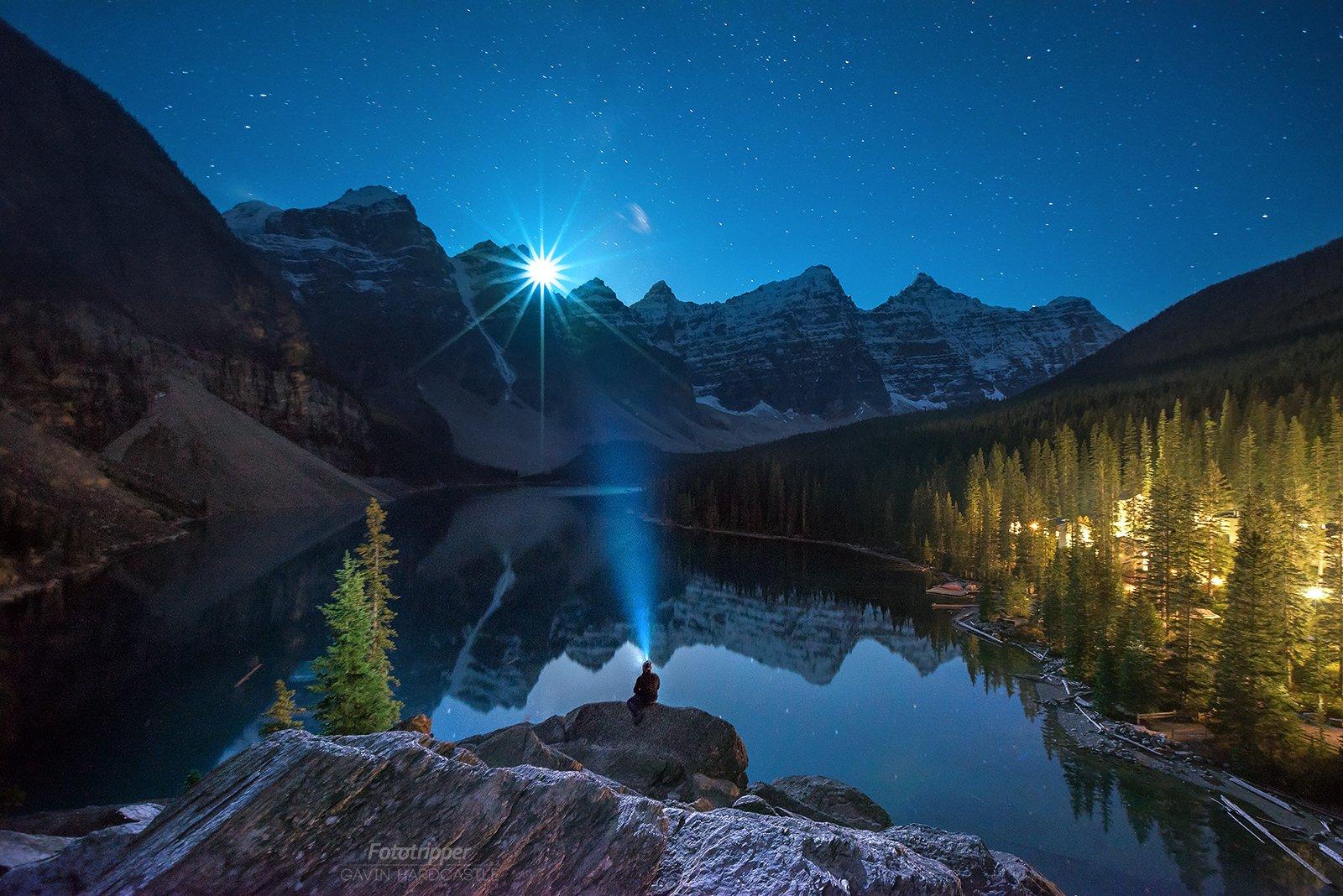 Moraine Moonset   4K Desktop Background of Banff   Fototripper 1600x1068