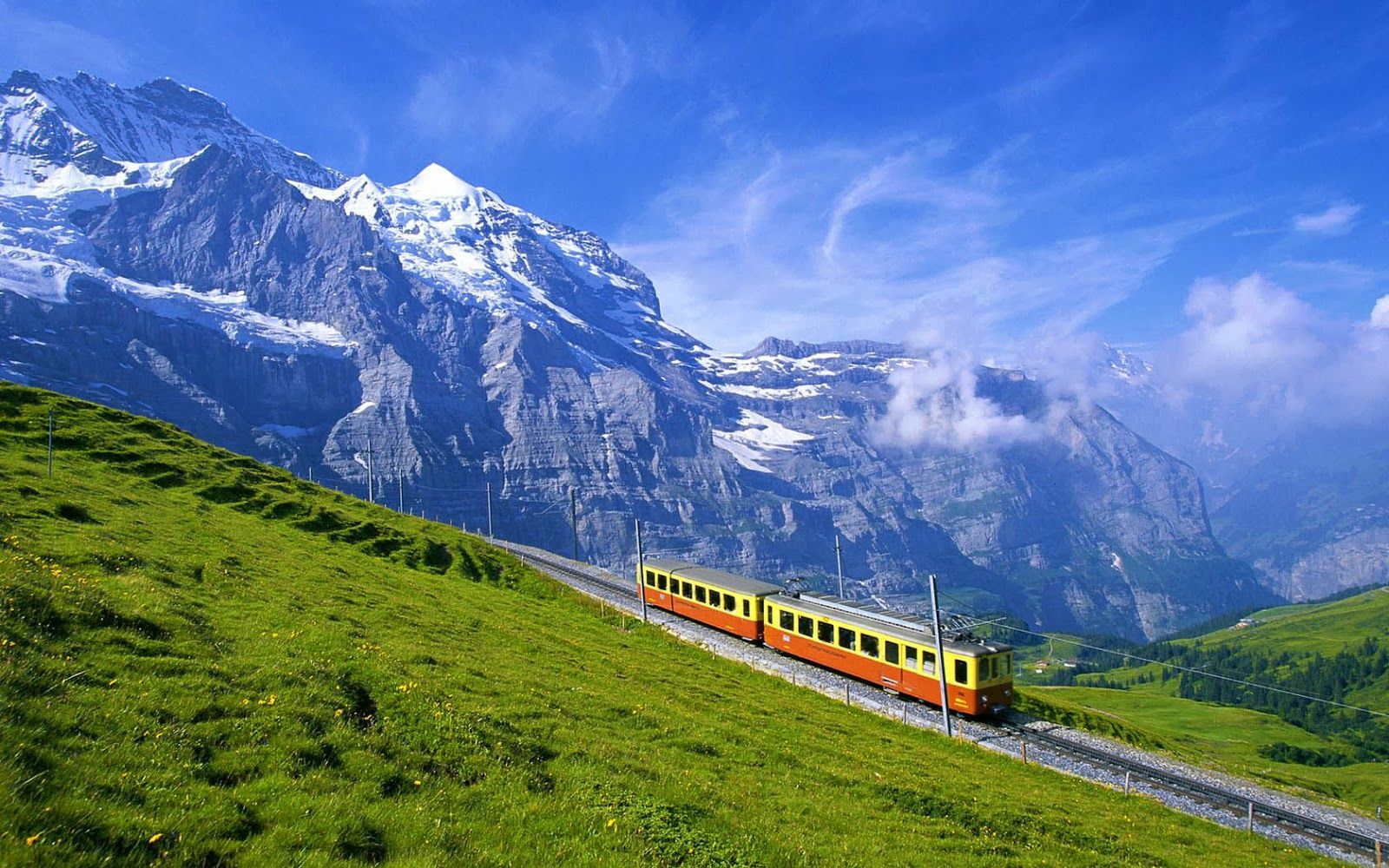Bernese Alps Canton Bern Switzerland Oh the Places well Go 1600x1000