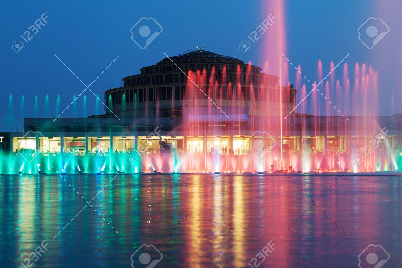 The Wroclaw Fountain With The Centennial Hall In The Background 1300x866