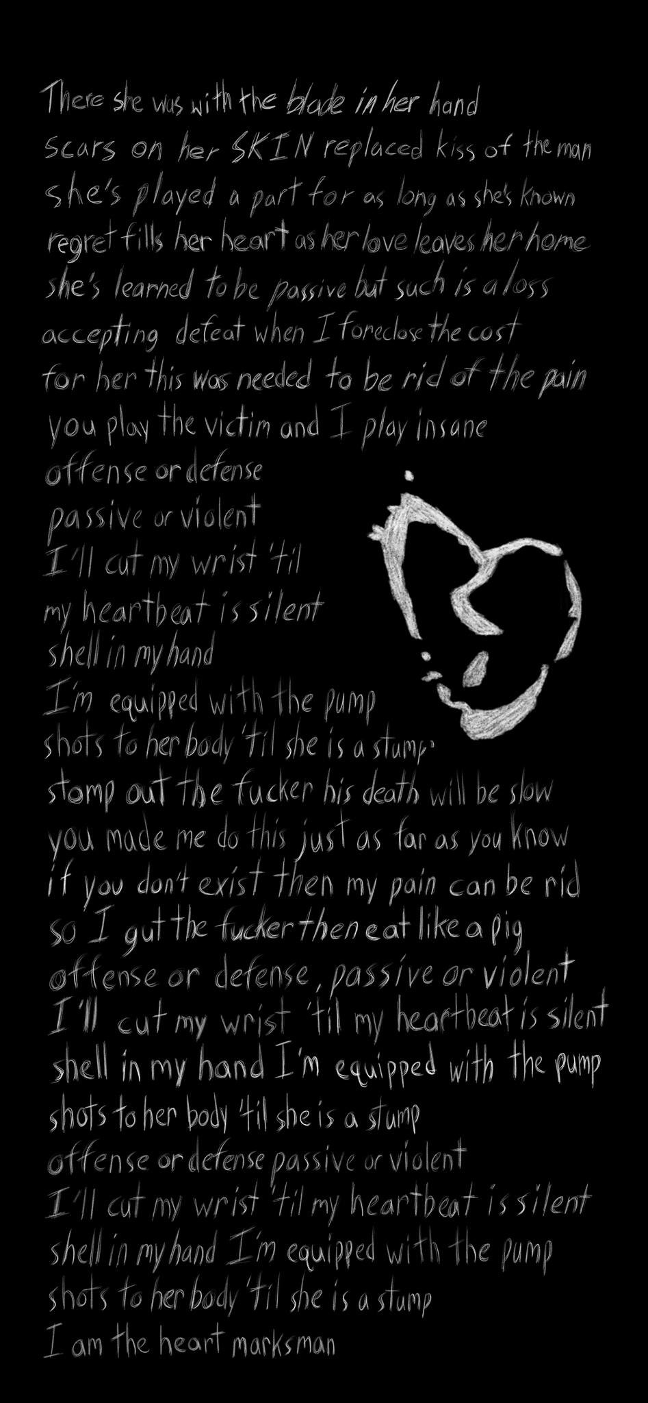 Made a phone wallpaper for one of my favorite X songs skin 947x2048