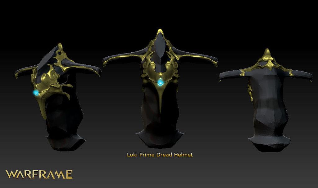 Warframe Loki Wallpaper Loki prime dread helmet 1024x607