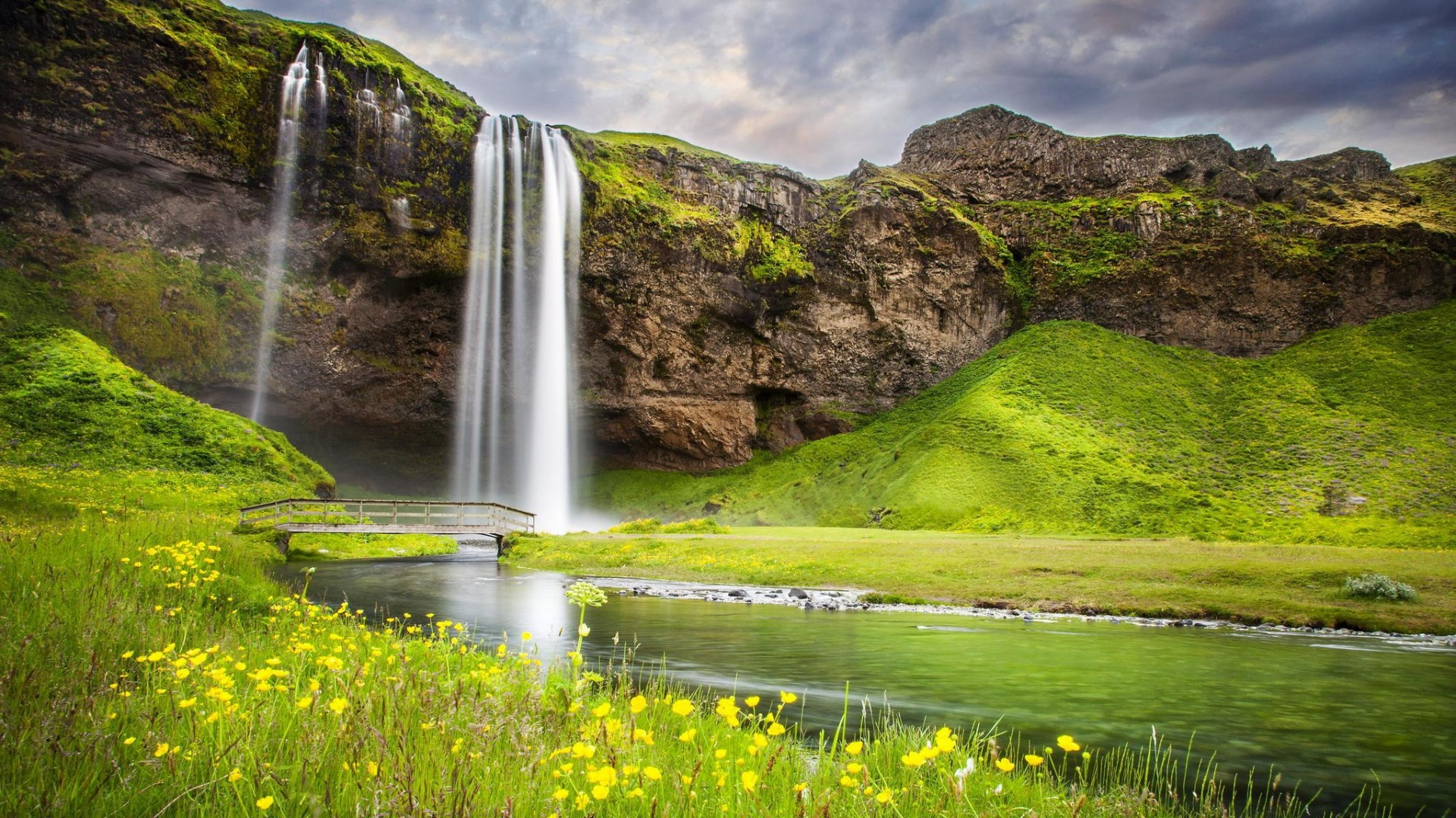 download Waterfall River Summer Landscape 1920 x 1080 1920x1080