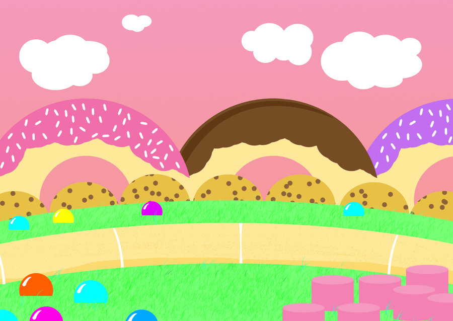 Candyland wallpaper wallpapersafari for Candyland wall mural