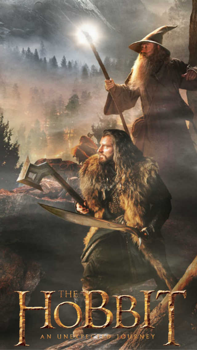 The Hobbit mobile wallpapers for Samsung SIII and iPhone Movie 640x1136