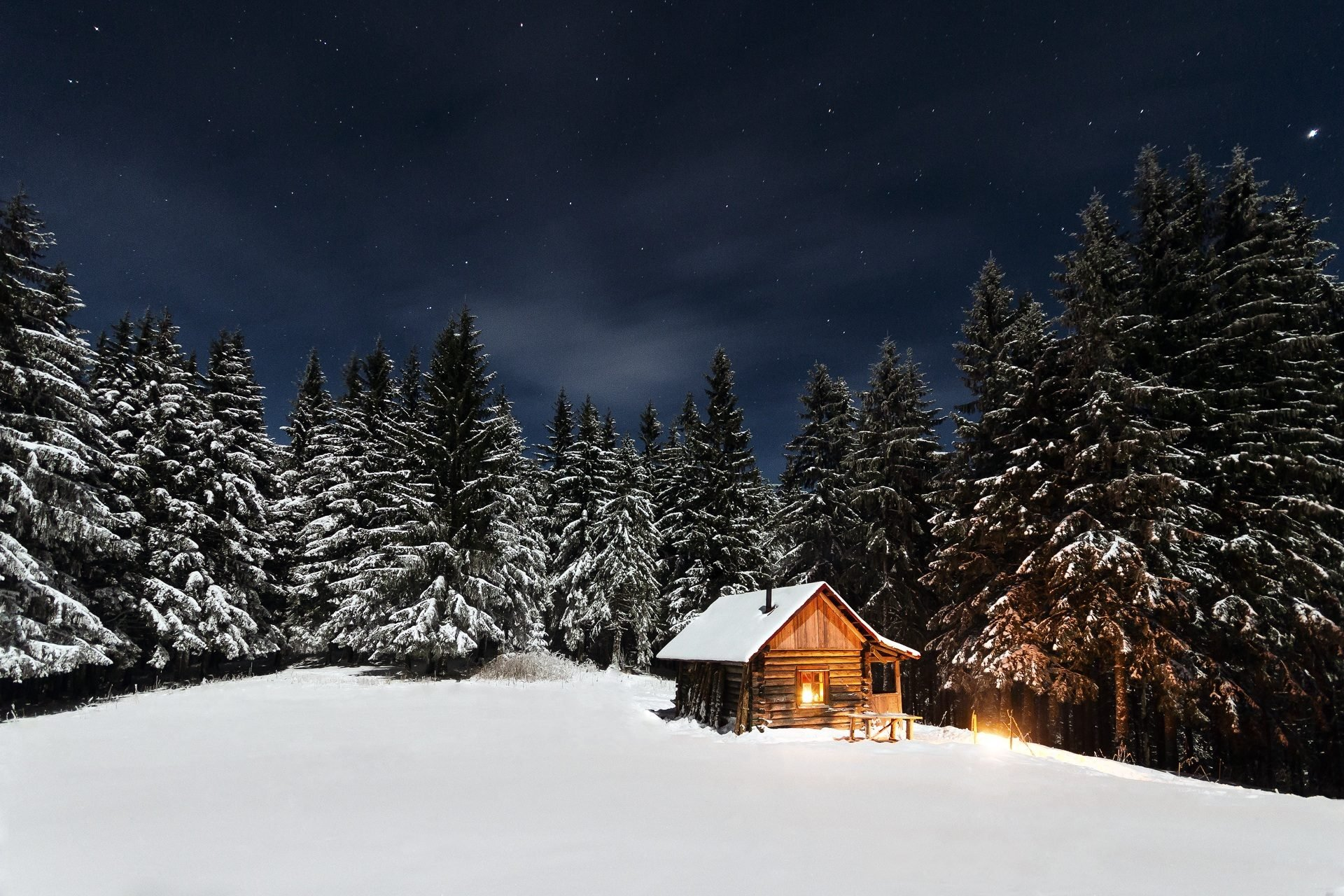 Winter Cabin Wallpapers Full HD Download 1920x1280