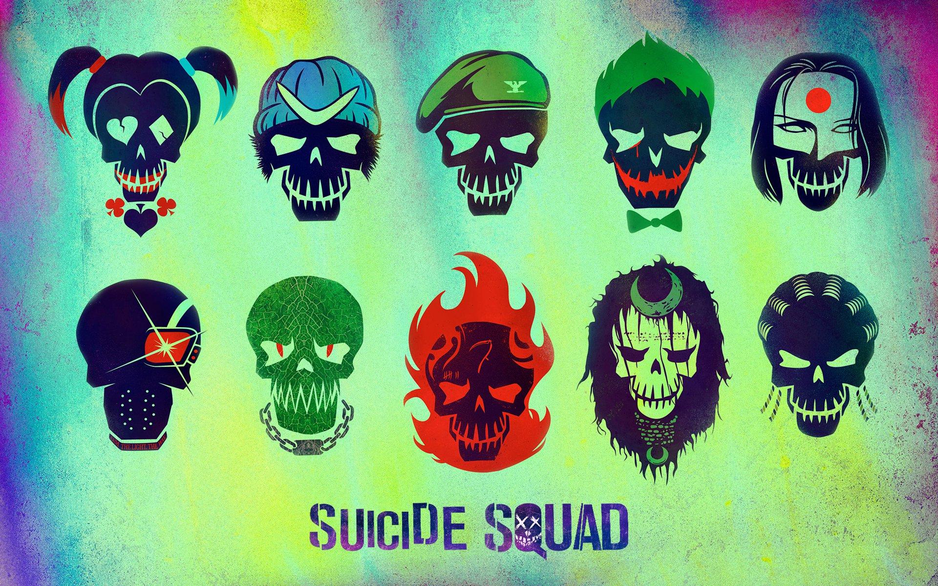 Suicide Squad picha Suicide Squad Skull karatasi la kupamba ukuta 1920x1200