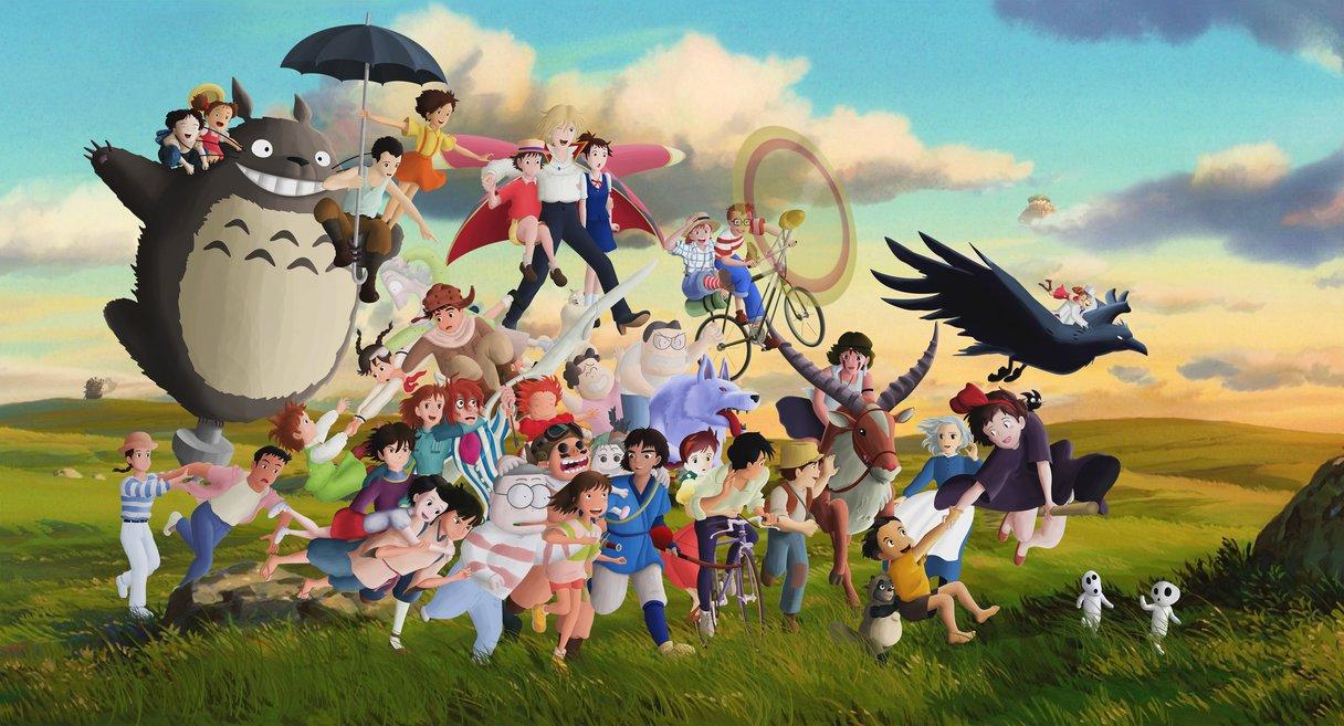 Studio Ghibli Characters by Ficklestix 1216x657