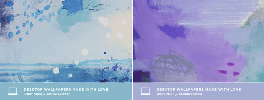 Desktop wallpaper from Design Love Fest 850x322