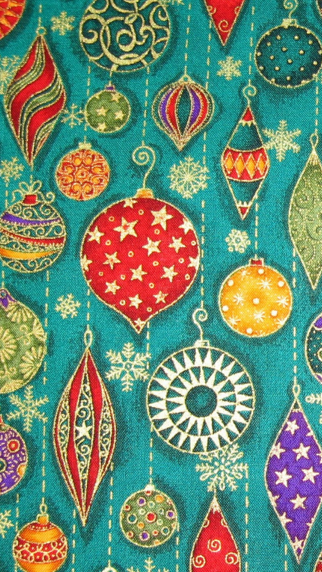 Christmas Decorations Pattern iPhone 5s Wallpaper Download iPhone 640x1136