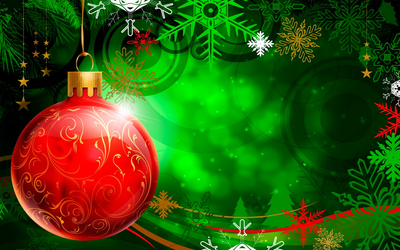 Christmas Ornament   Red Wallpaper   Christian Wallpapers and 1680x1050