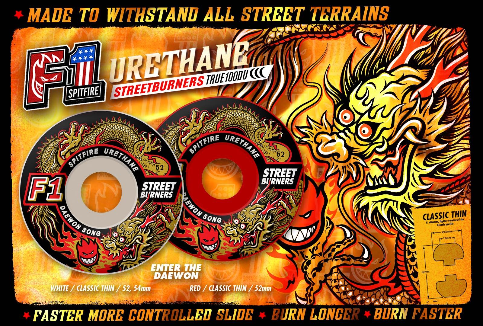Spitfire Skateboards Wallpaper 52mm wheels 1600x1080