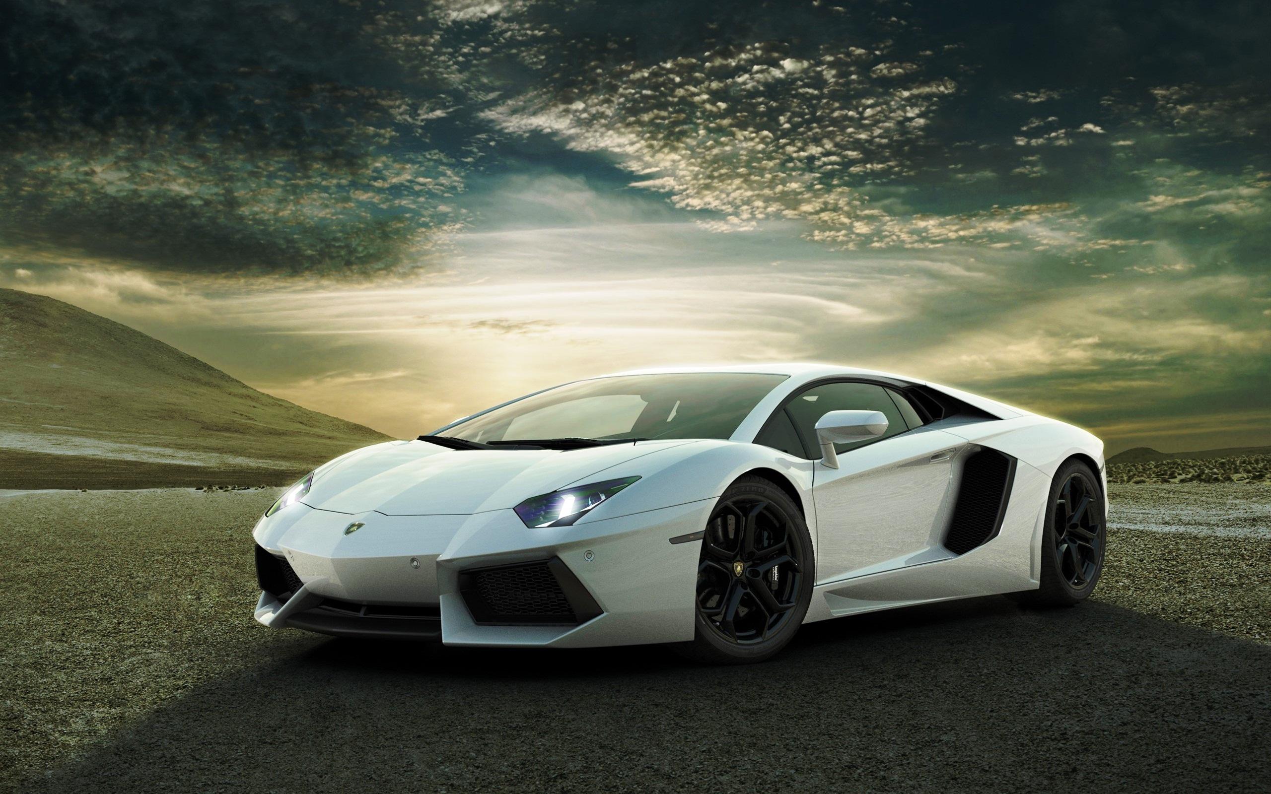 White Lamborghini Aventador Wallpapers HD Wallpapers 2560x1600