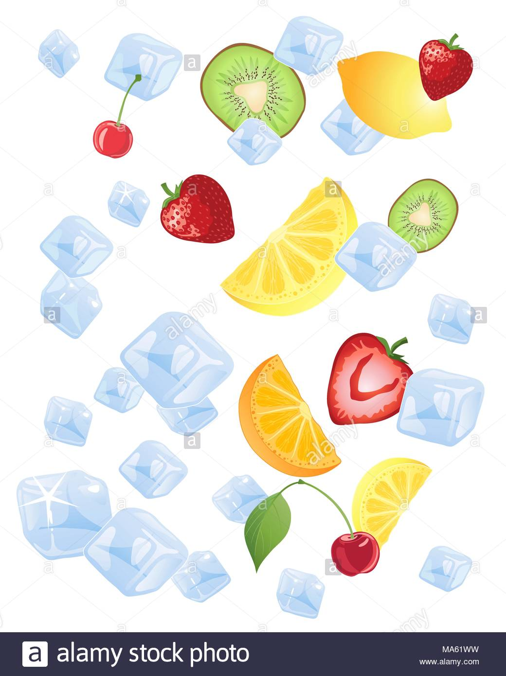 a vector illustration in eps 10 format of delicious fresh fruit 1040x1390