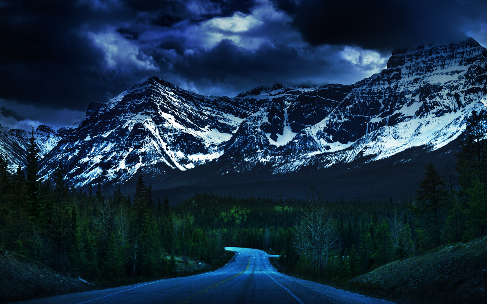 Long road to the mountains wallpaper 39567 1680x1050