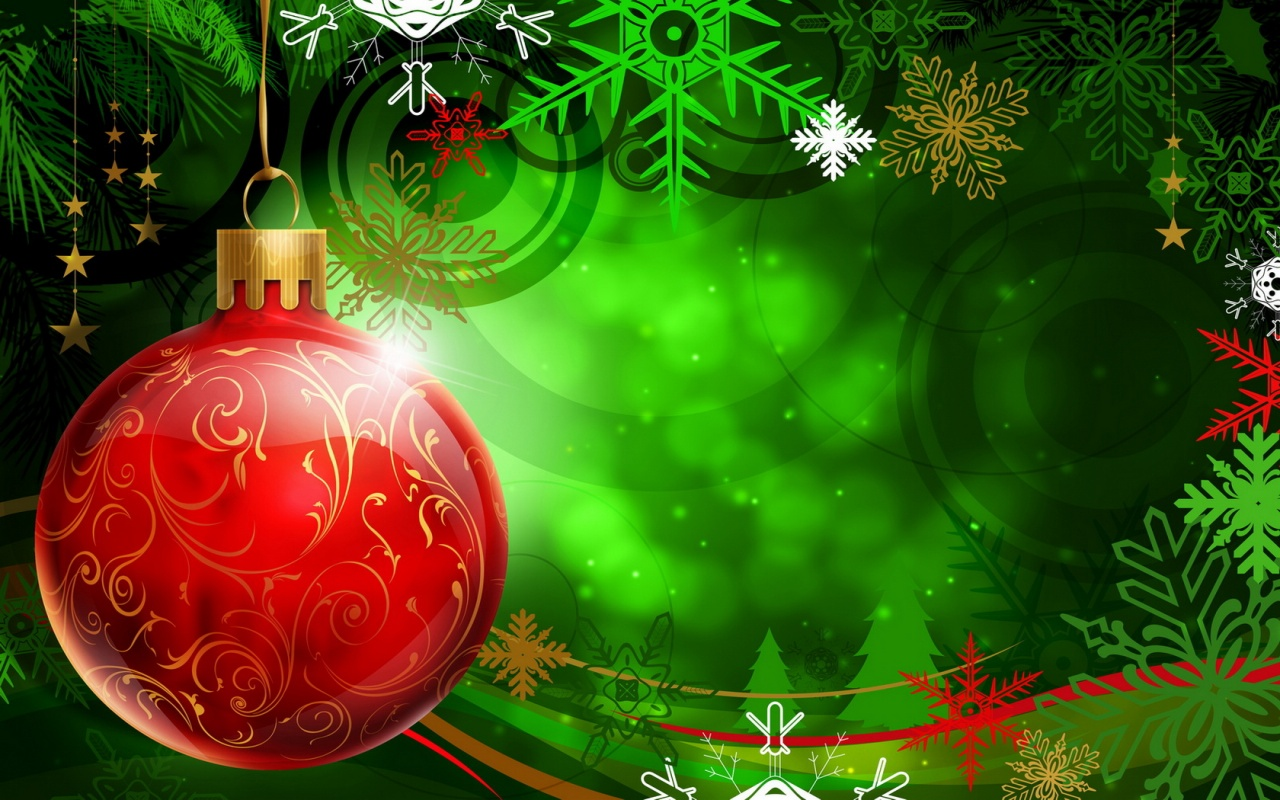 Christmas Wallpapers and PowerPoint Backgrounds Pictures  Green 1280x800