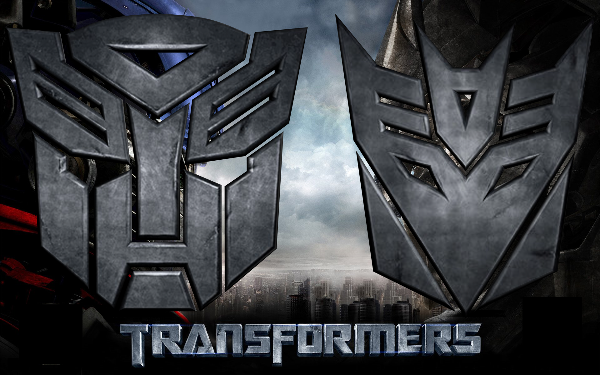 3D Autobot and Decepticon Logo by td0615 1920x1200