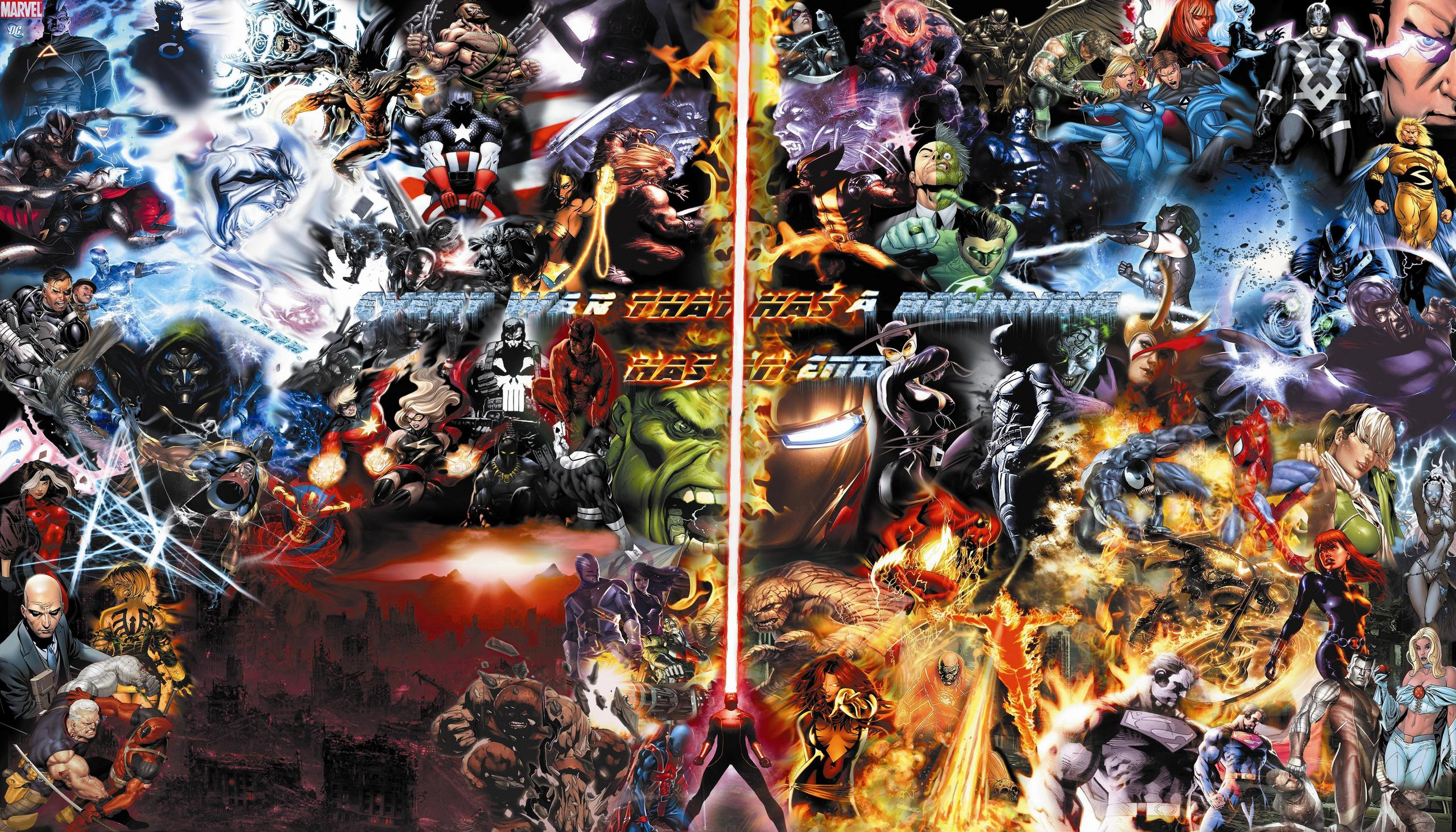 Final War Marvel DC WALLPAPER 73 Charcaters   Marvel Comics Photo 2560x1463