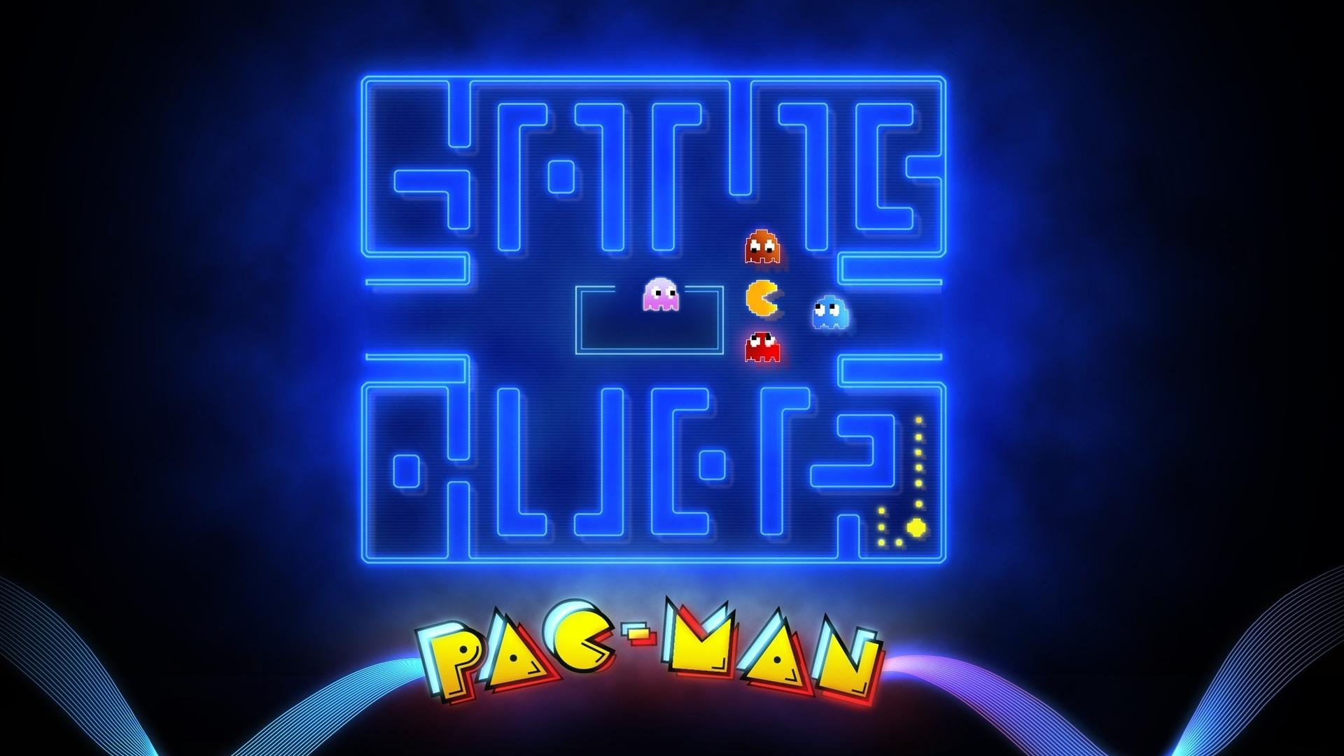 Arcade glowing mazes game over pac man retro wallpaper 21056 1920x1080