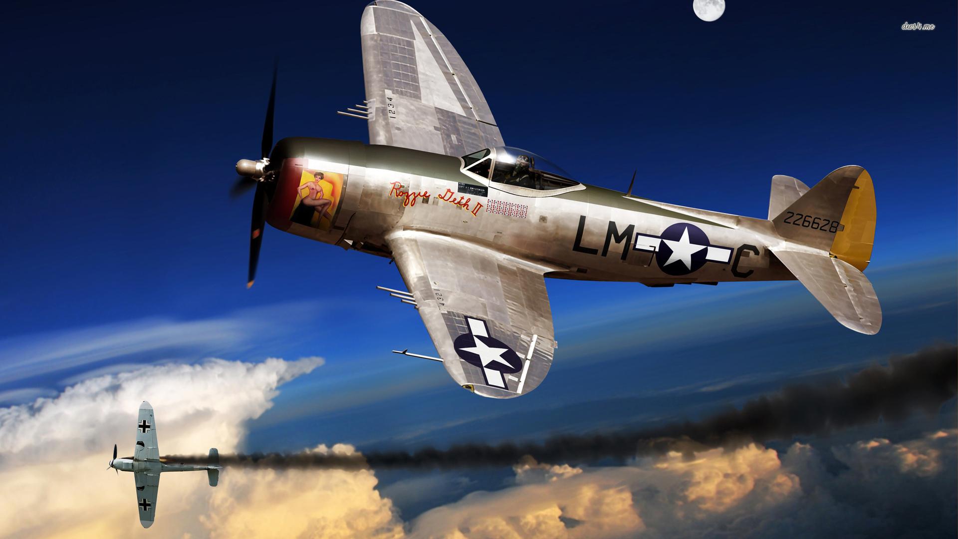 Republic P 47 Thunderbolt wallpaper   Aircraft wallpapers   41819 1920x1080