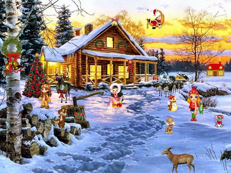 And Wallpapers christmas screensavers photo wallpapers christmas 800x600