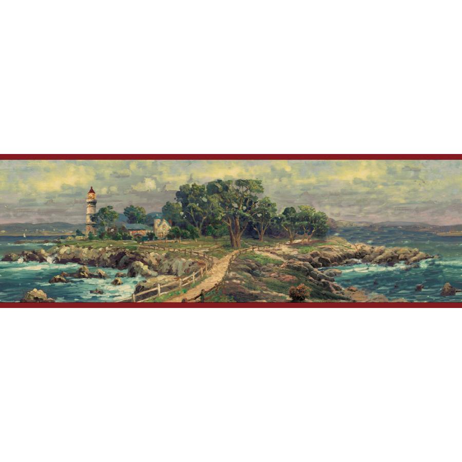 Shop IMPERIAL 6 78 Coastal Prepasted Wallpaper Border at Lowescom 900x900