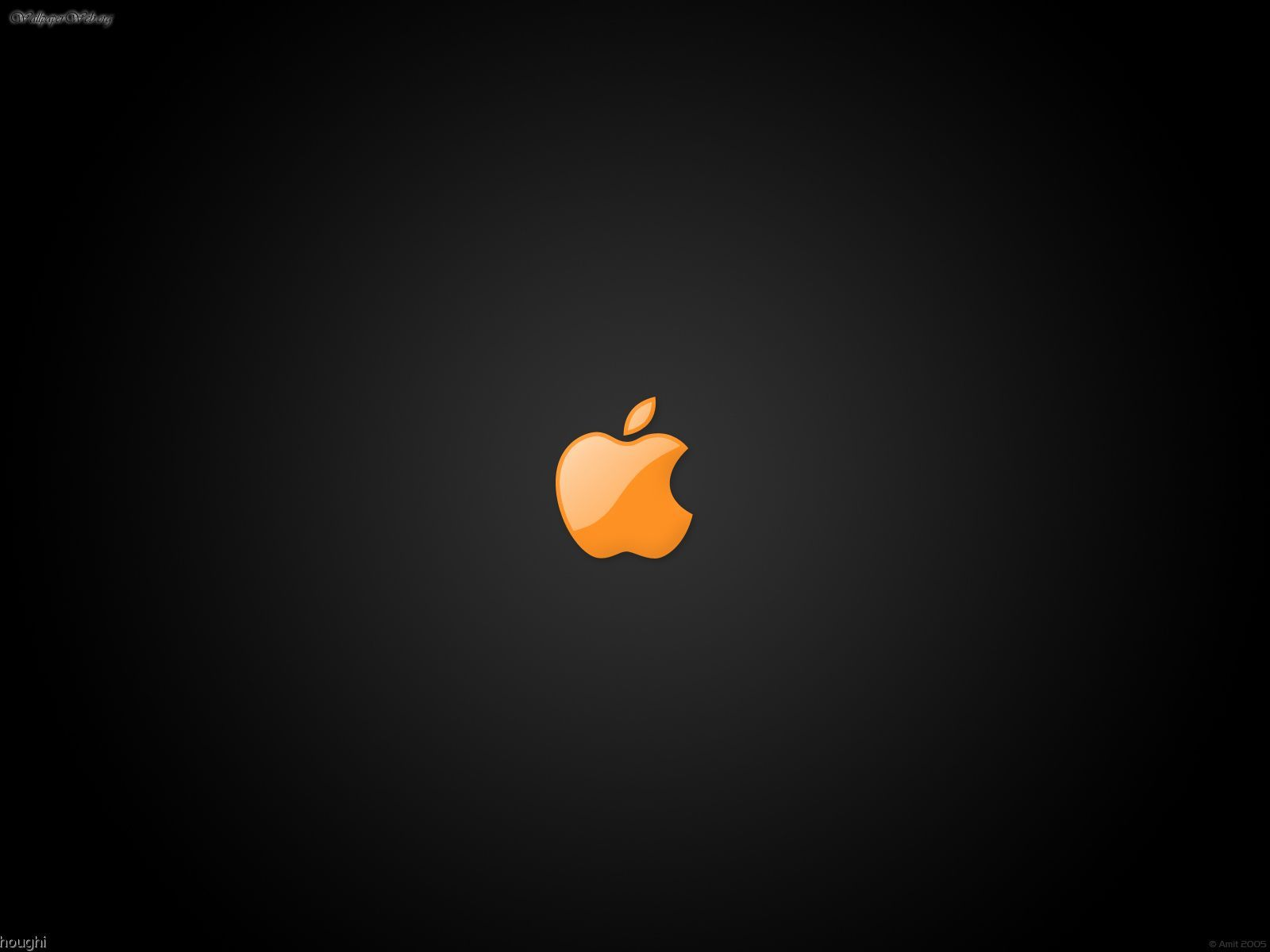 Computer Apple Logo orange picture nr 26352 1600x1200