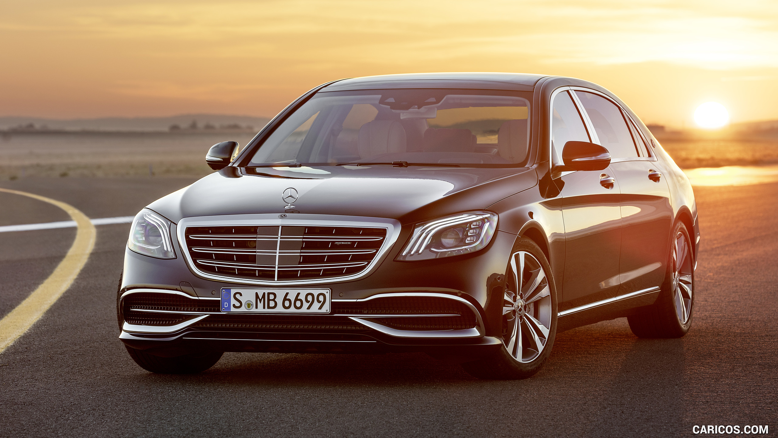 2018 Mercedes Maybach S Class S650 Black   Front Caricos 2560x1440