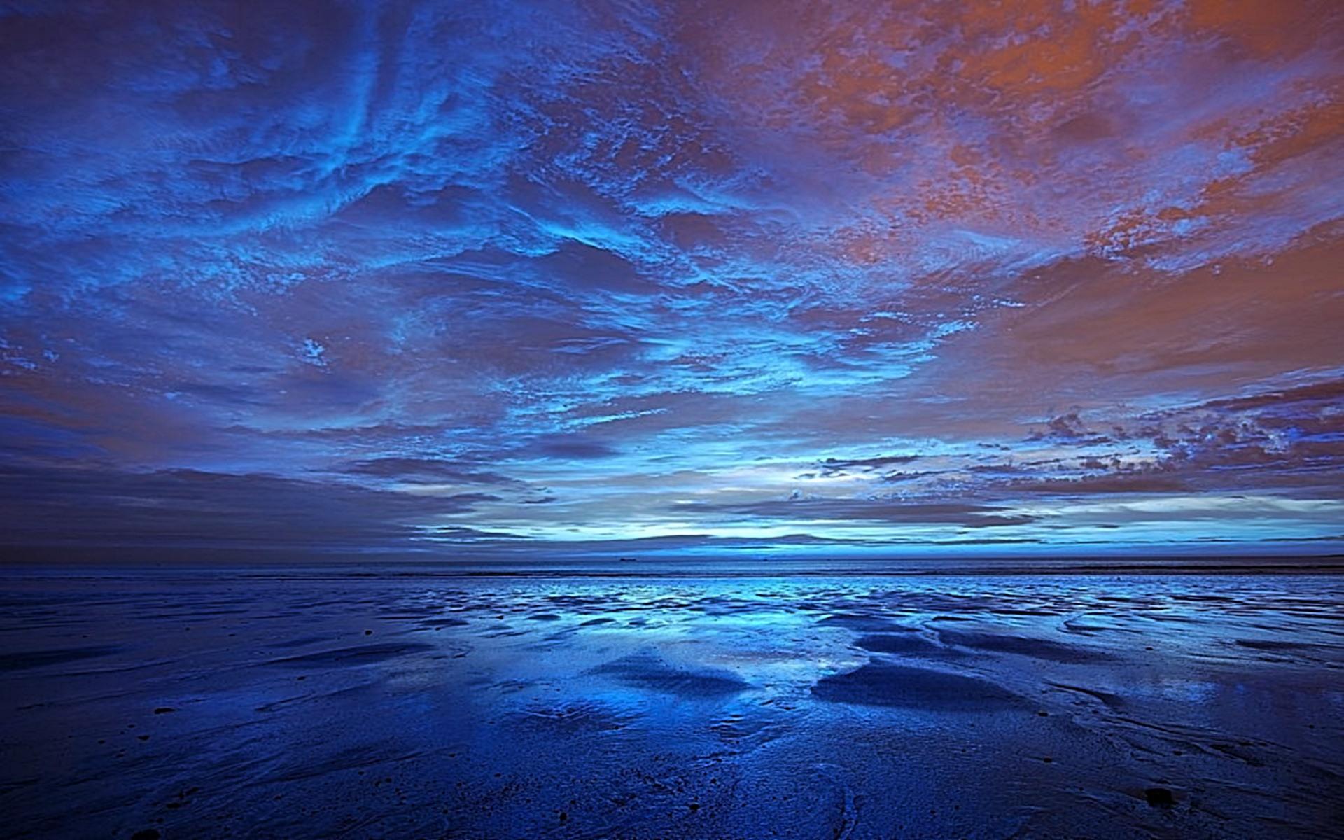 blue sunset wallpaper original 1920x1200 1920x1200