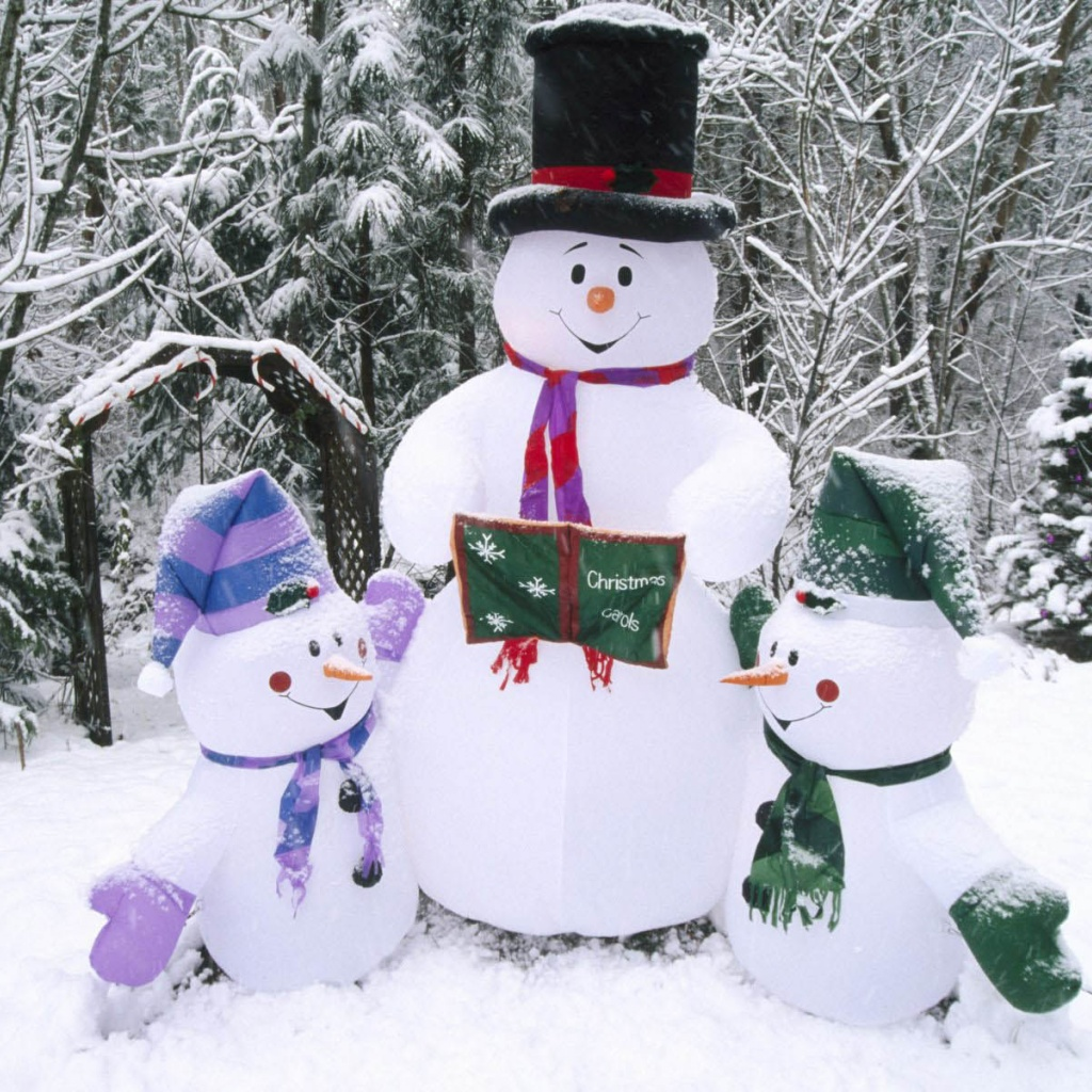1024x1024 Winter Snowman desktop wallpapers and stock photos 1024x1024