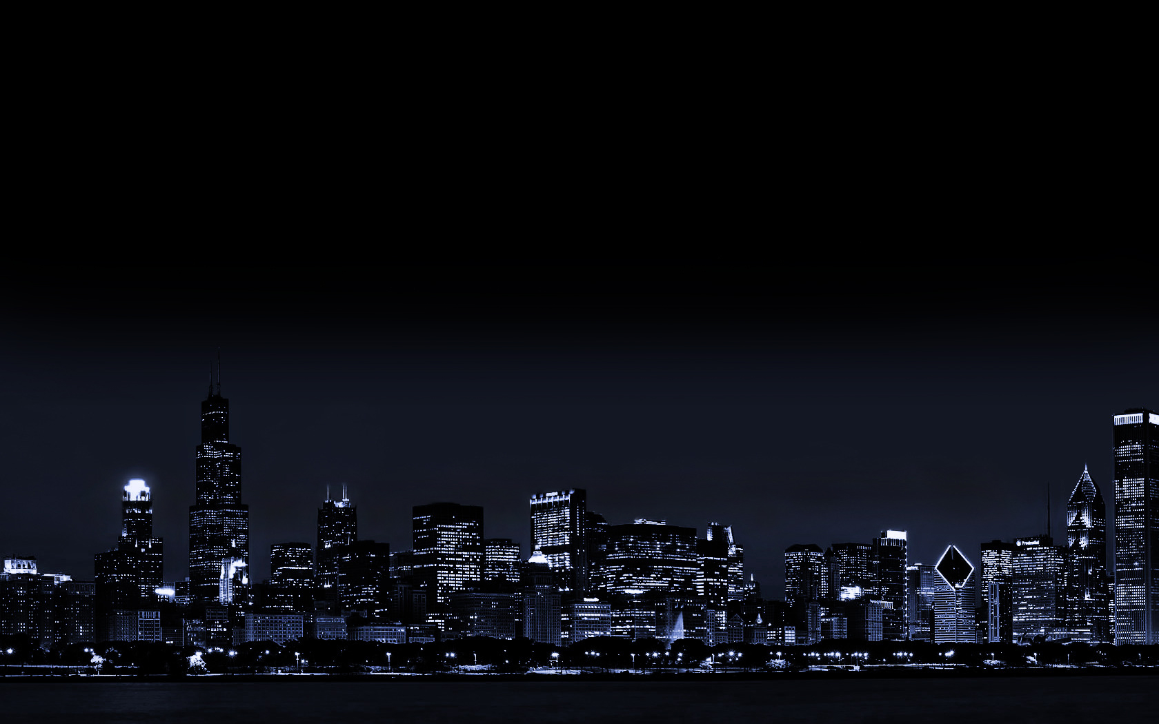Chicago City Lights Illinois   Wallpaper 35590 1680x1050