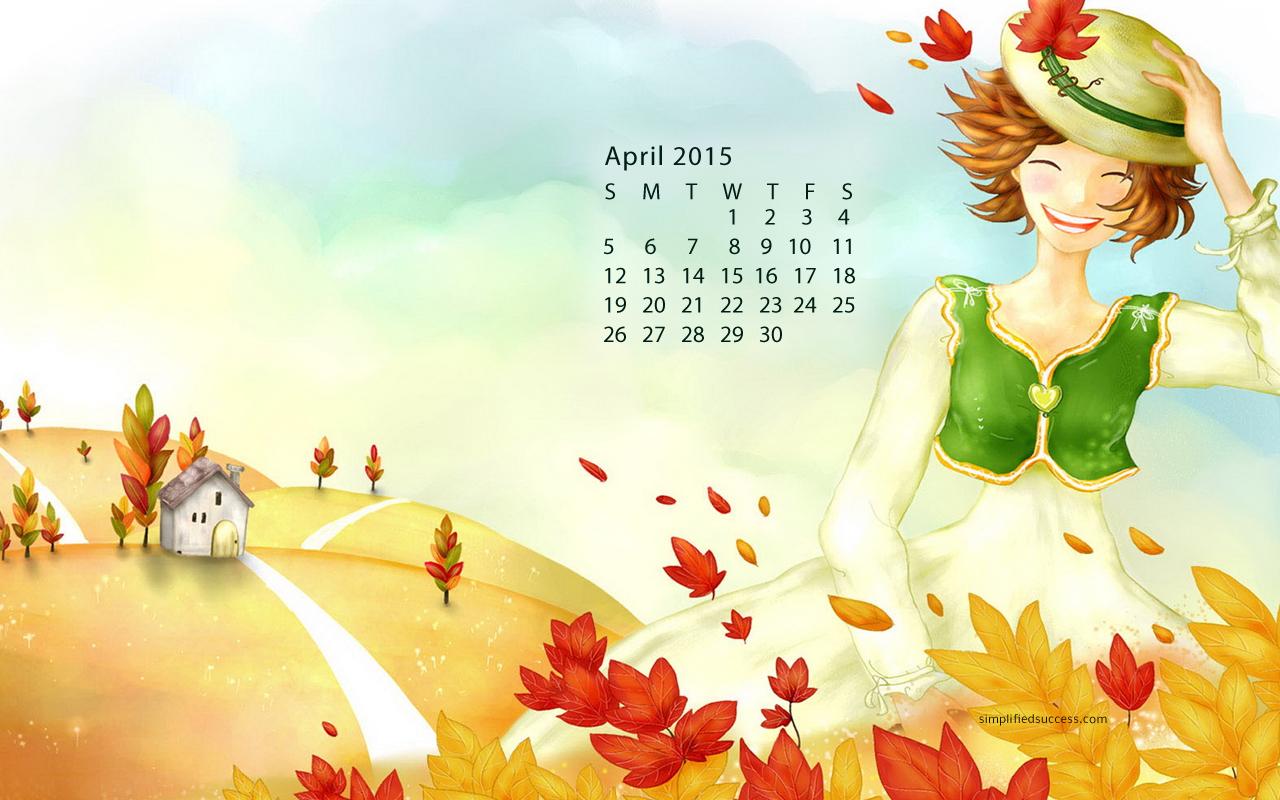 April 2015 Calendar Wallpaper 1280x800