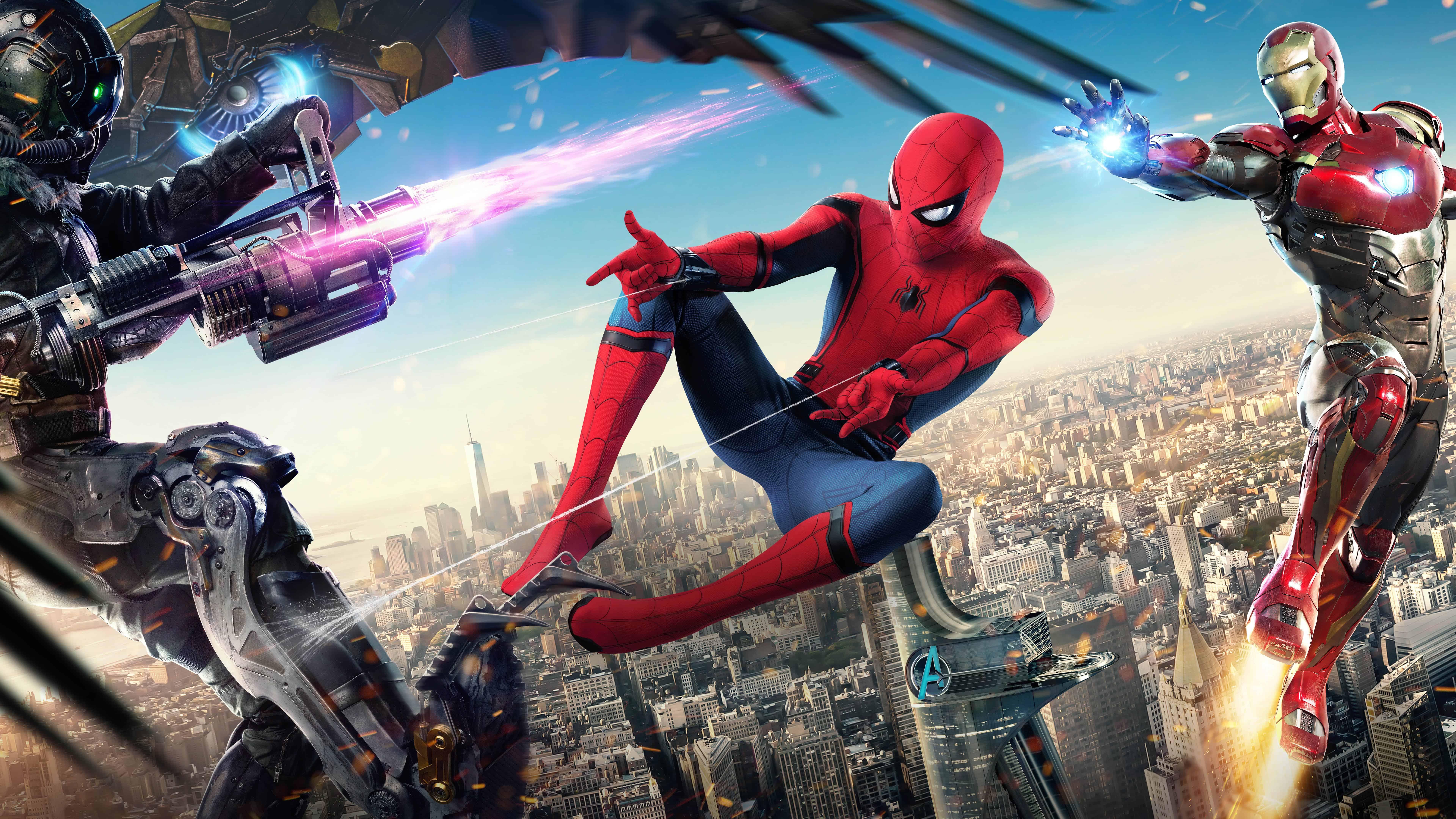 Spider Man Homecoming UHD 8K Wallpaper Pixelz 7680x4320