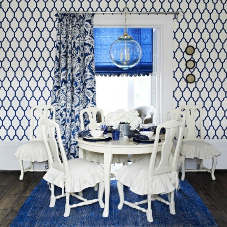 10 Modern Dining Rooms with Geometric Wallpaper Rilane   We Aspire 768x768