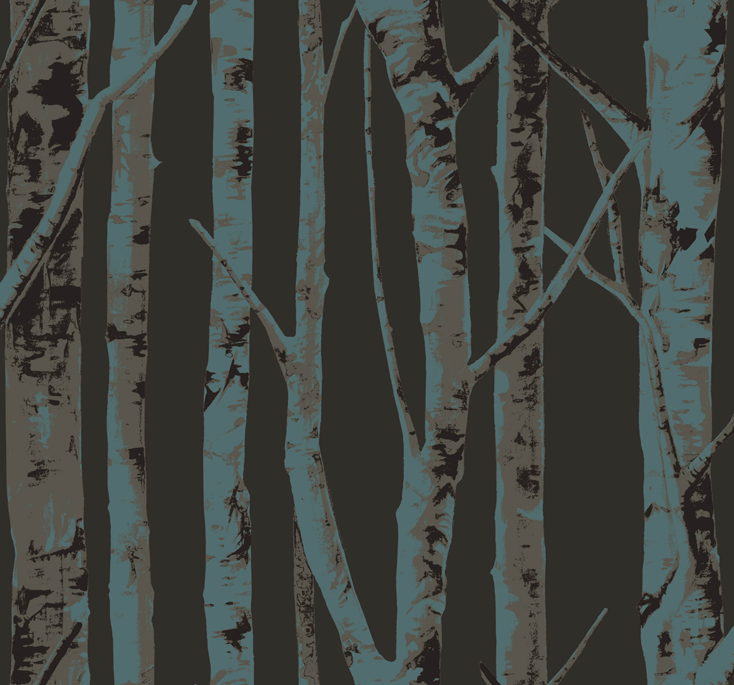 incredible birch tree wall - photo #42