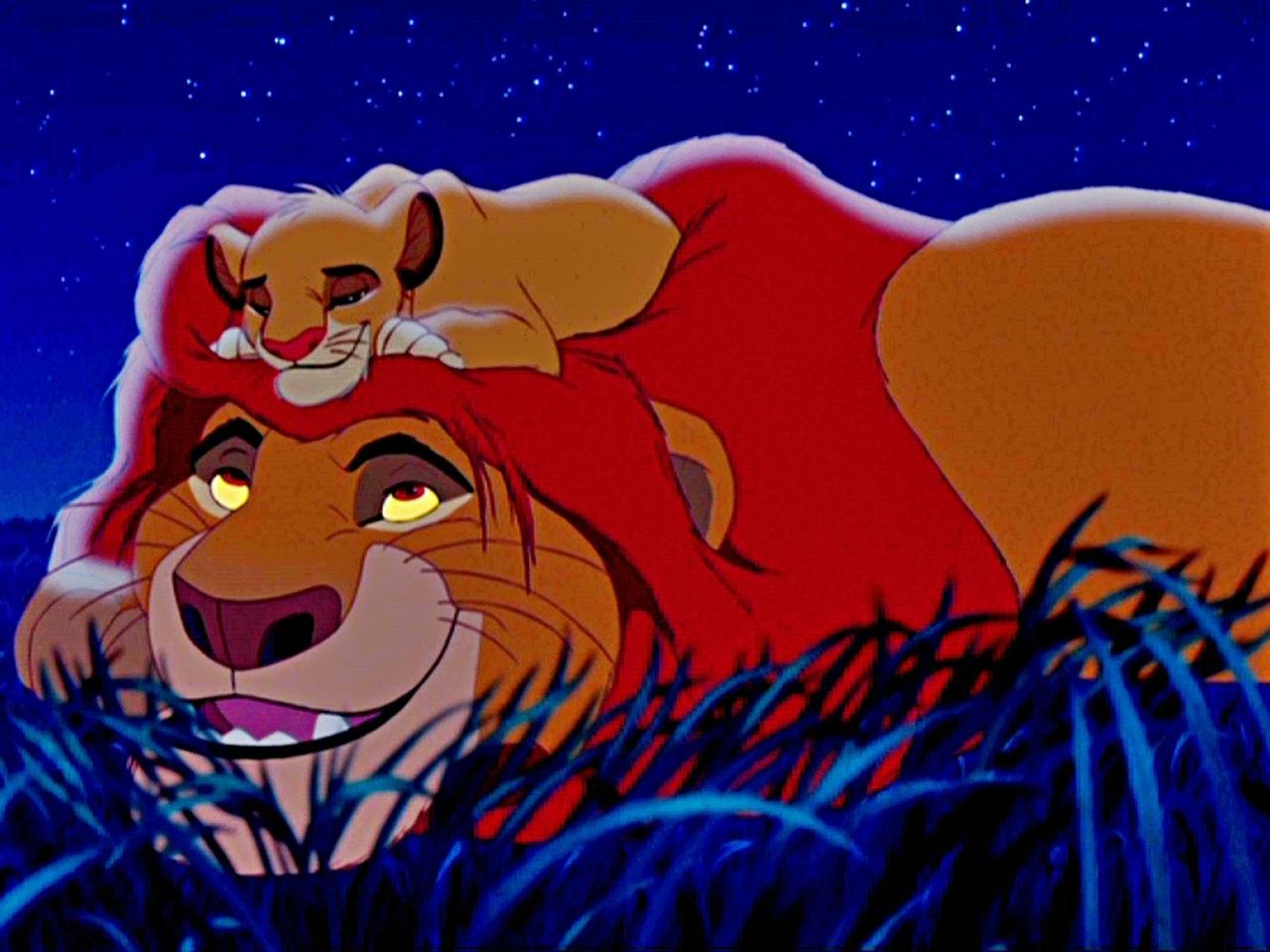 Lion king simba and mufasa wallpaper