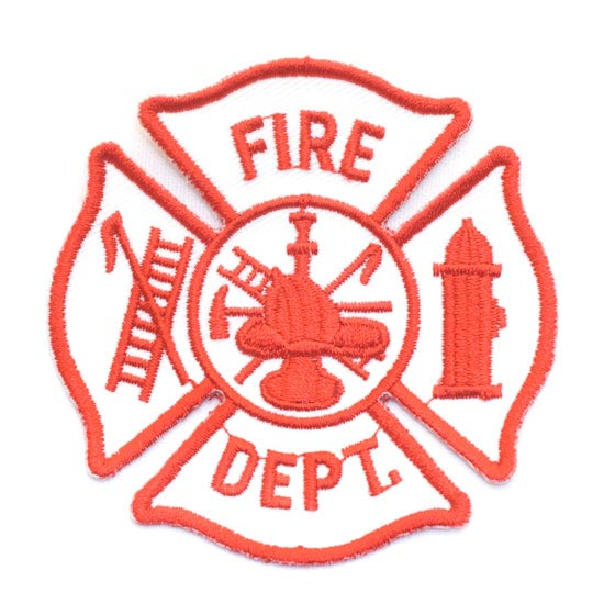inch Fire Dept Maltese Cross Patch VIPs Save 10 Shipping 550x550